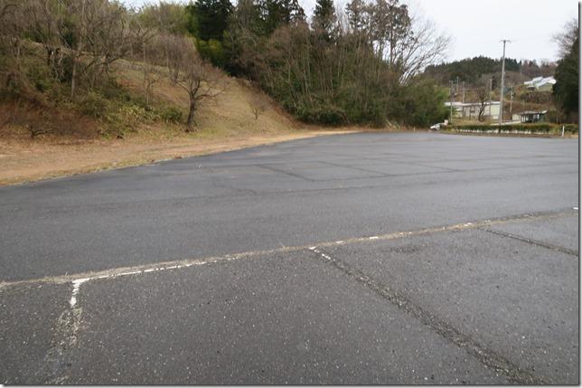 滝桜の無料駐車場写真
