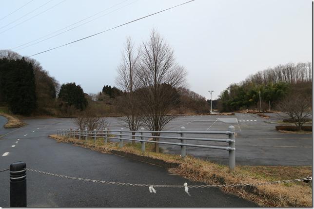 三春滝桜の駐車場案内写真